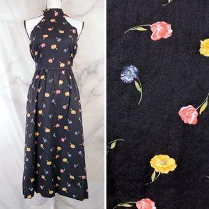✨VTG✨ 80s Halter Midi Dress